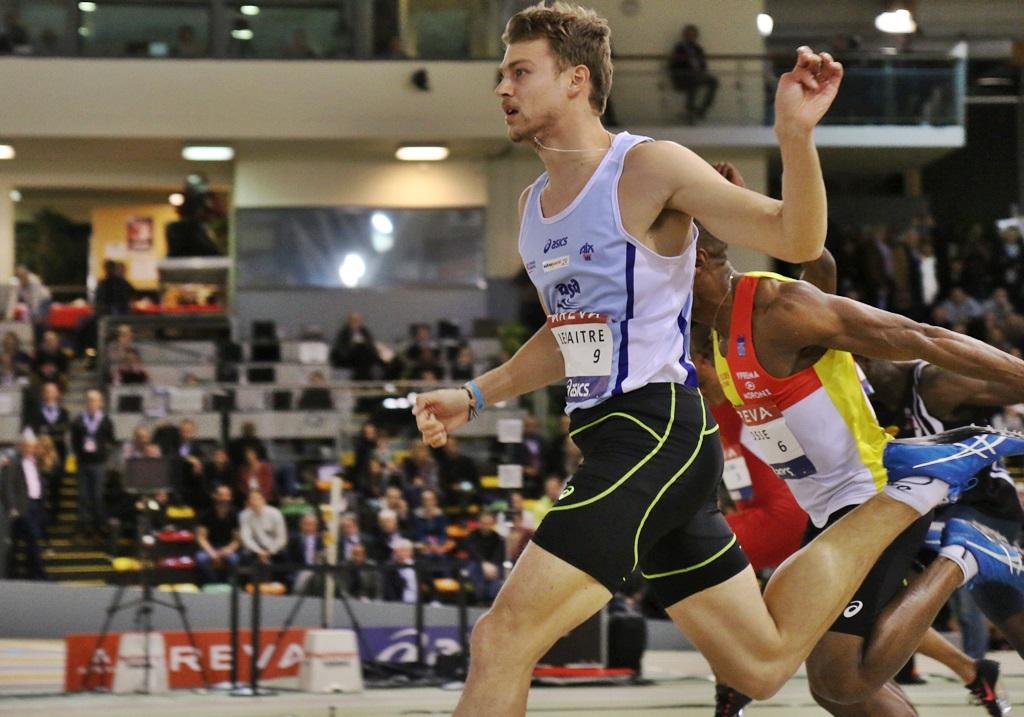 Christophe Lemaitre vainqueur du 60 mètres