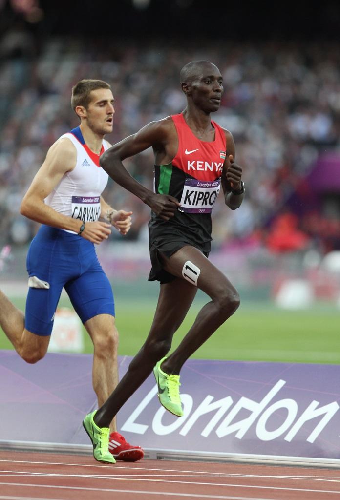 Florian Carvalho et Asbel Kiprop (Kenya)