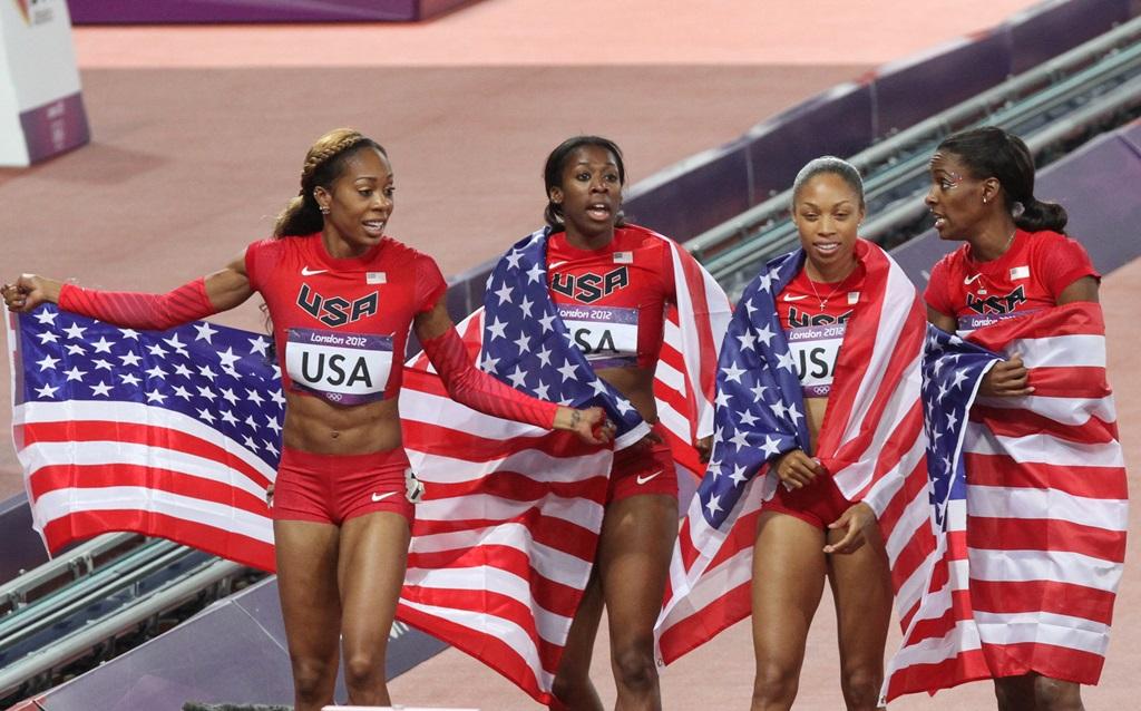Francena Mc Corory championne du monde en 2011 et championne olympique en 2012 avec le relais 4 x 400 m US