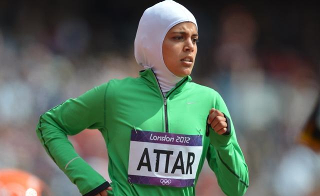 Sarah Attar, sur la piste des JO de Londres, 1ère femme saoudienne autorisée à disputer les JO.