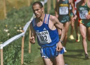 Driss Maazouzi avec l'équipe de France en 2000