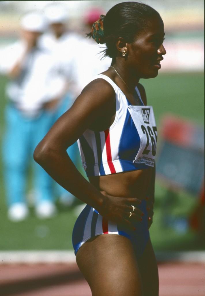 Maguy Nestoret aux Jeux Méditerranéens en 1993