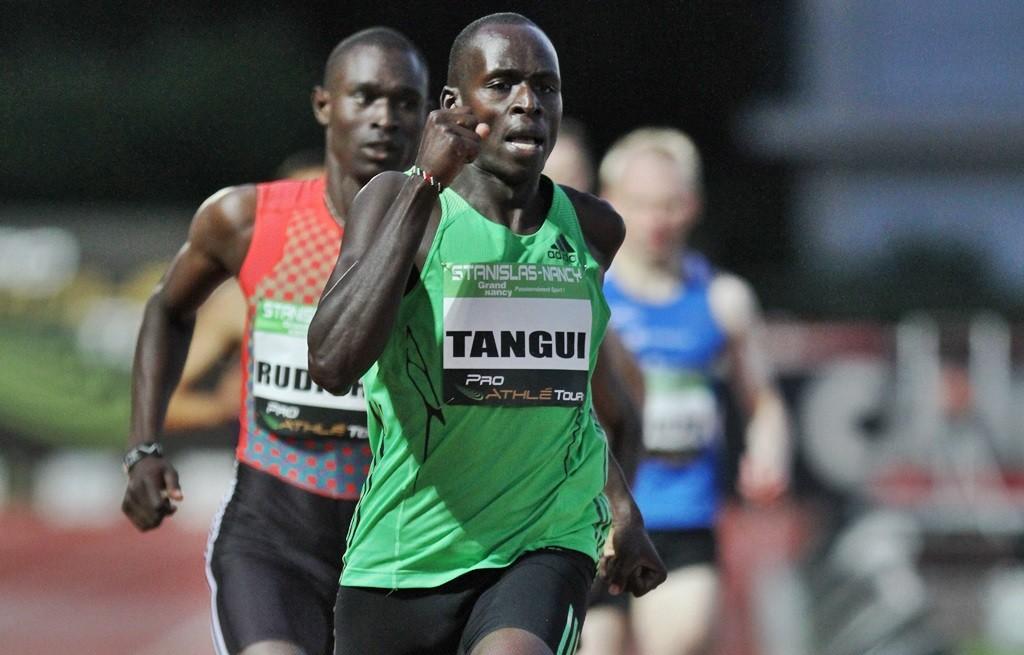 Dans les meetings, Sammy Tangui assure le rôle de lièvre pour David Rudisha