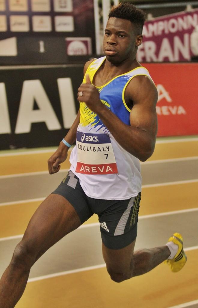 Toumany Coulibaly champion de France en salle cette année à Aubière sur 400 mètres