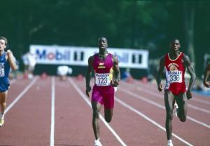 Carl Lewis aux sélections US pour les JO 1992