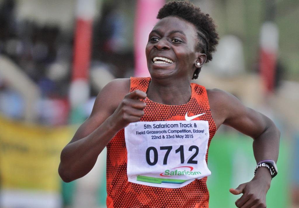 Francine Niyonsaba sur la piste d'Eldoret où elle retrouve ses marques