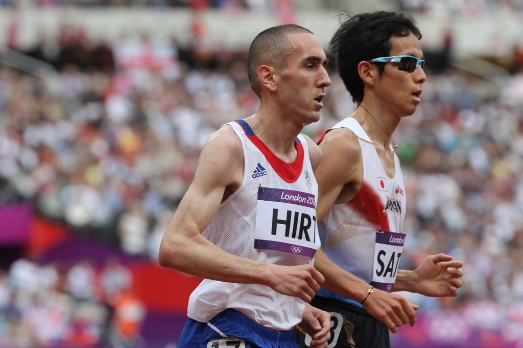 Hassan Hirt à Londres en 2012 dans sa série qualificative