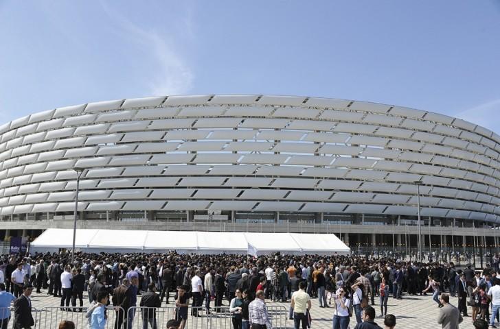 Le stade olympique de Baku, avec 68.000 places