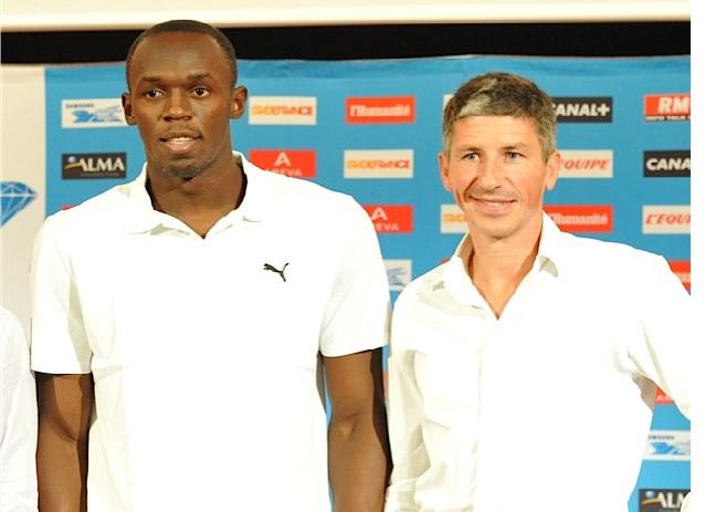 Laurent Bocquillet aux côtés de Usain Bolt