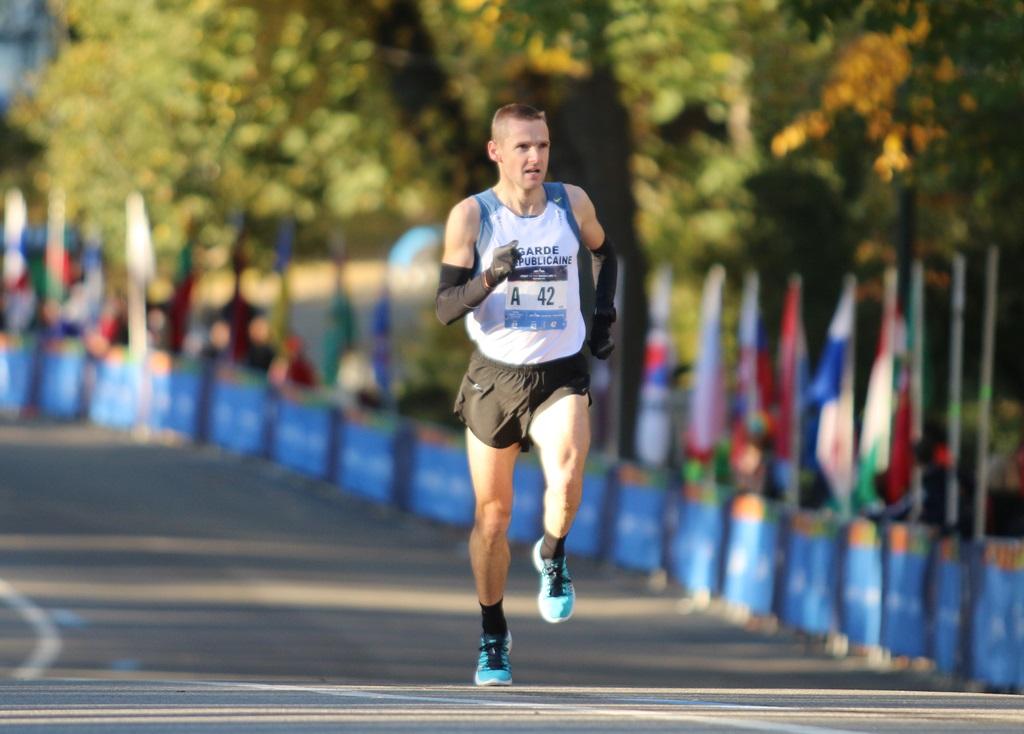 Frédéric Bouvier, à Central Park, pour le 5 km Dash to Finish Line