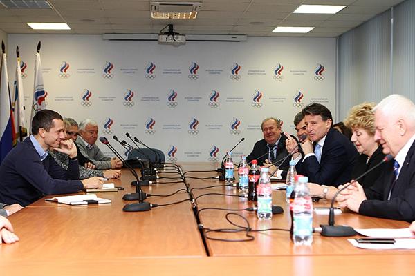 Sebastien Coe en visite officielle à Moscou