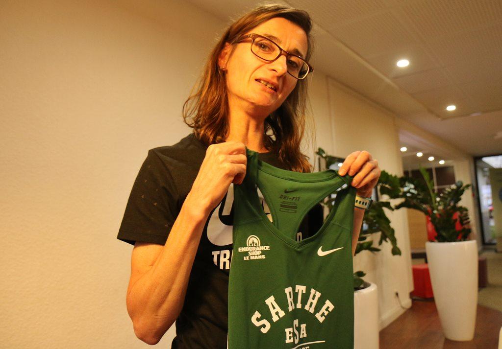 Christelle Daunay et son nouveau maillot de club