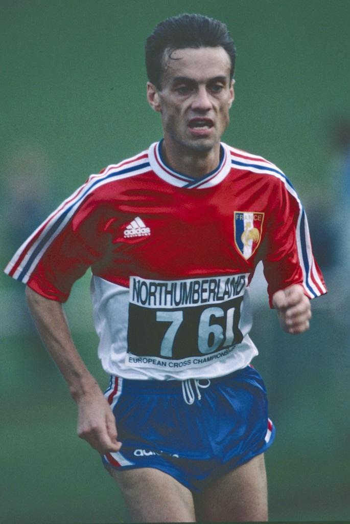 Bruno Le Stum lors des premiers championnats d'Europe de cross en 1994
