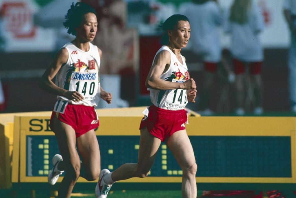 Wang Junxia en 1993 (dossard 140)