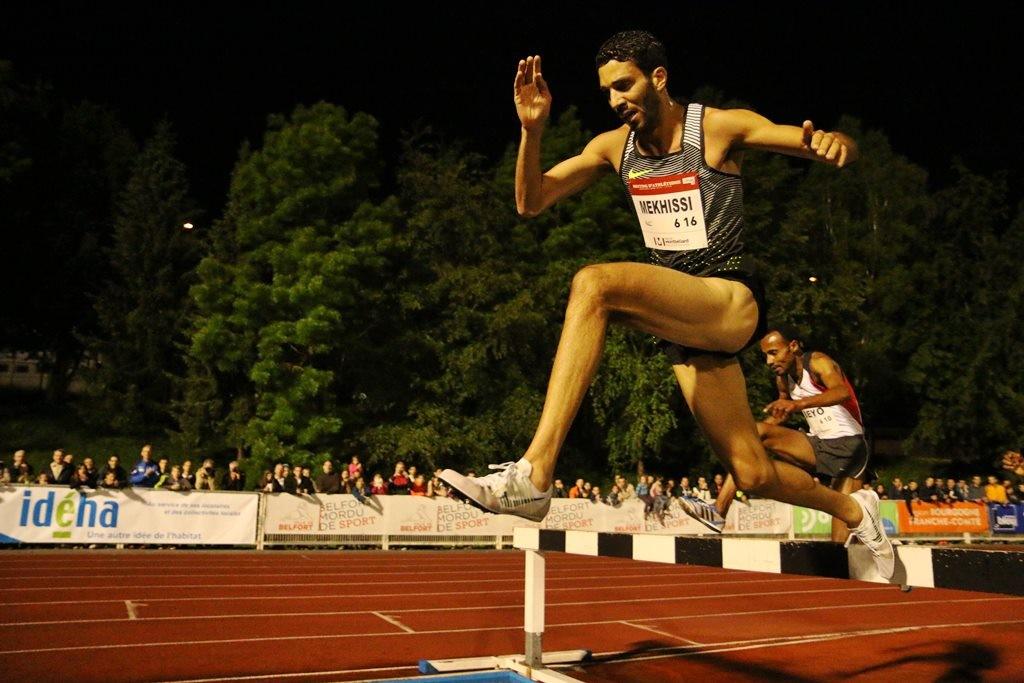 Mahiedine Mekhissi en puissance dans son dernier 400
