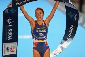 Cassandre Beaugrand, à Lisbonne, pour le titre européen juniors