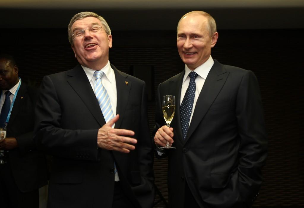 Thomas Bach et Vladimir Poutine