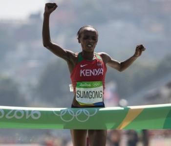 La championne olympique de marathon, Jemima Sumgong, suspendue 4 ans pour dopage