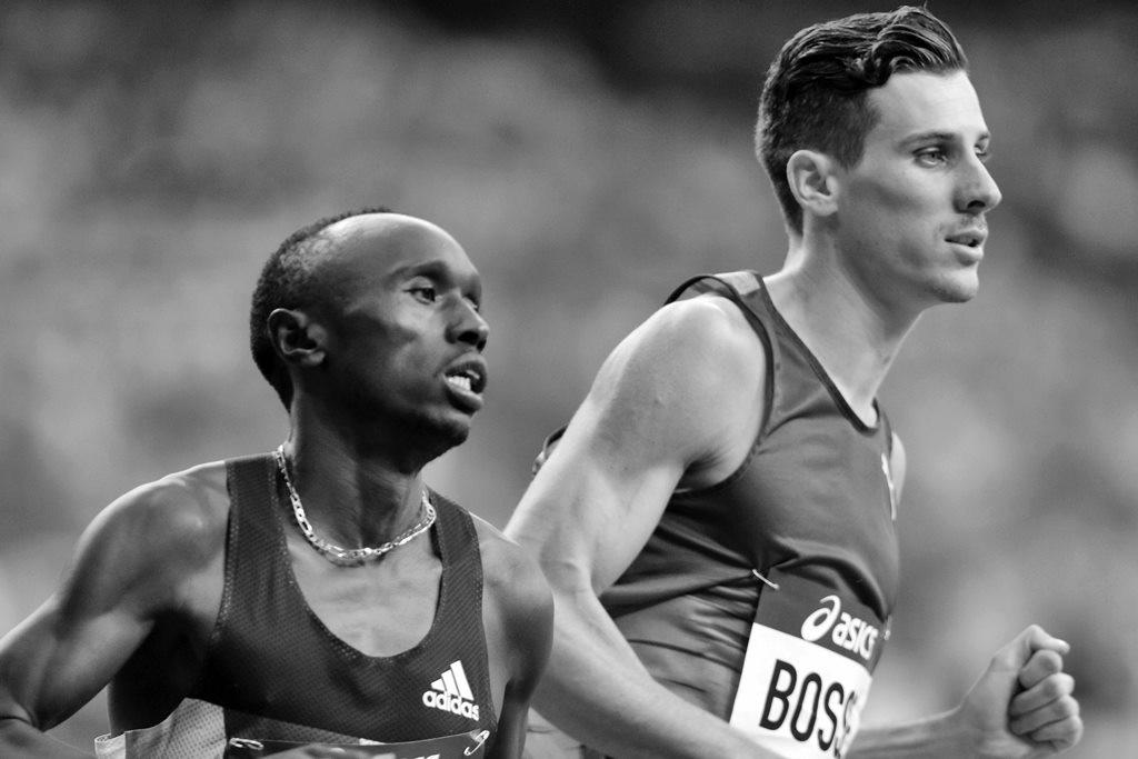 Pierre Ambroise Bosse à la lutte pour se caler dans le sprint final