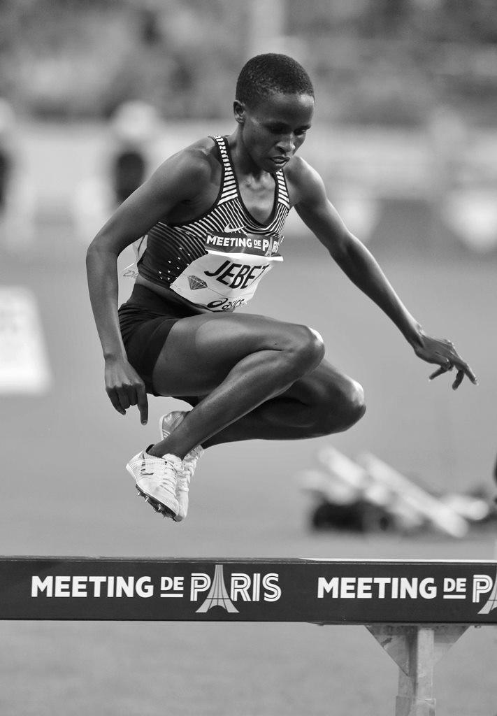 Ruth Jebet dans sa course au record du monde