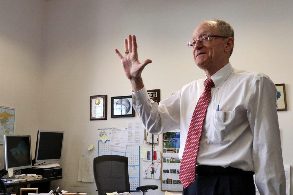 Marcel Philippe dans son bureau au sein de la Special Narcotic Prosecutor à New York
