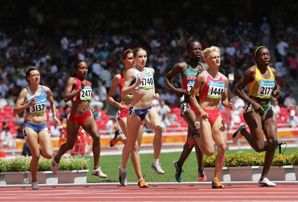 Elodie Guégan aux J.O. de Pékin en 2008