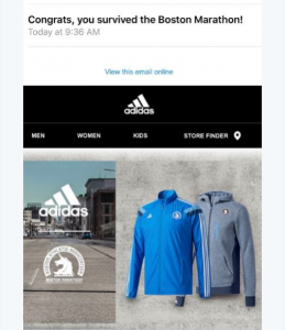 ADIDAS MAIL BOSTON
