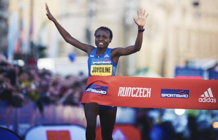 Joyciline Jepkosgei, 4 records du monde à Prague