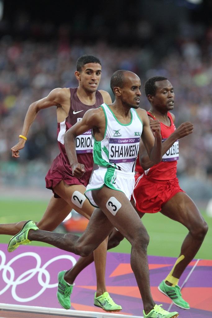 Hamza Driouch (Qatar), Mohammed Shaween (KSA) et Ilham Tanui Ozbilen (Turquie)