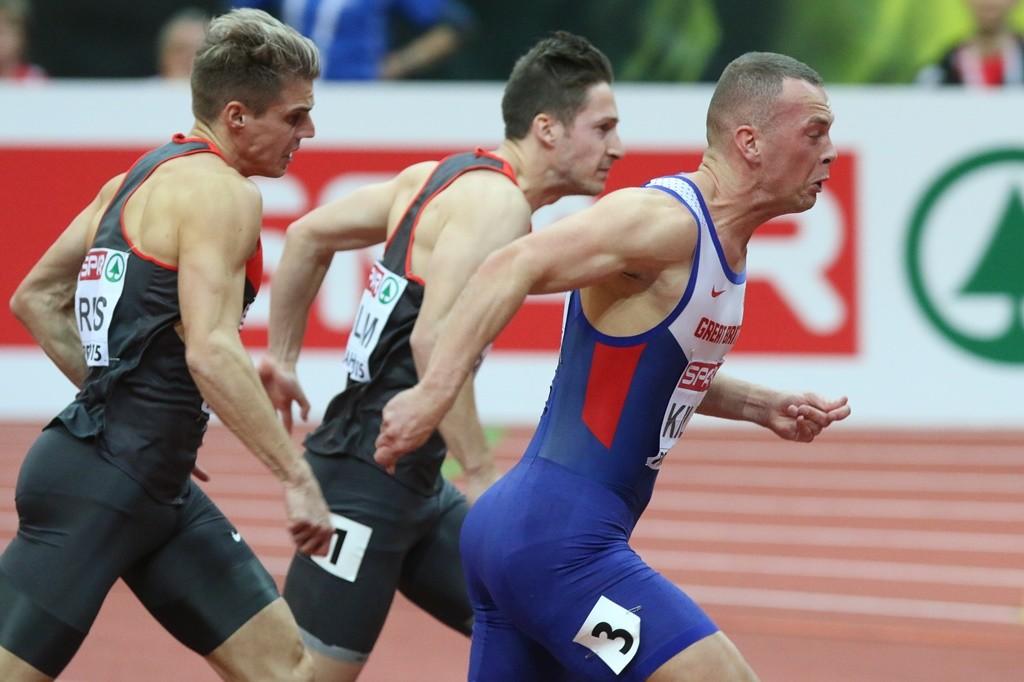 Richard Kilty très fougueux pou s'imposer à Prague sur 60 mètres.