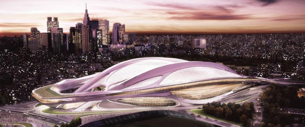 Le projet futuriste du stade olympique de Tokyo.