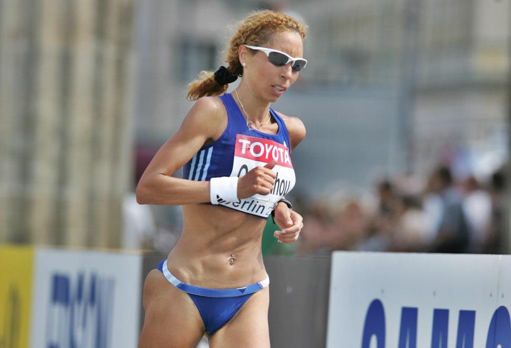 Yamna Oubouhou sur marathon au Mondial de Berlin en 2009